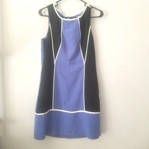 Jessica Simpson Blue and Black Dress